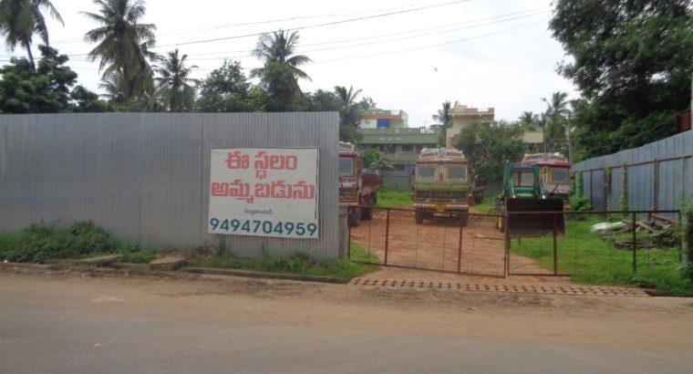 1106 Sq Yards of Open Site for Sale at Main Road Mandapeta