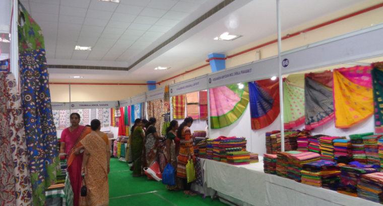 National Handloom Expo 2018 at SRMT Function Hall, Kakinada