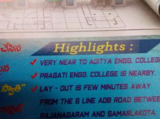 Plots near pragathi engineering college