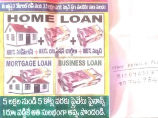 Home, Mortgage, Business Loans Provided by Jana Chaitanya Constructions