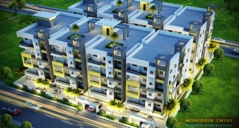 2BHK Luxurious Flats for Sale By Mohiddin Constructions at Main Raod Tatipaka.
