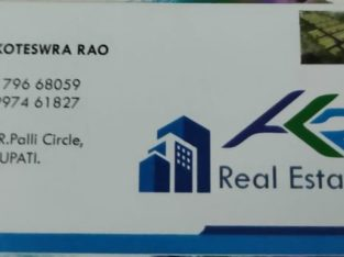 Real Estate Consultant For Buying Or Selling, M.R Palli Circle, Tirupati