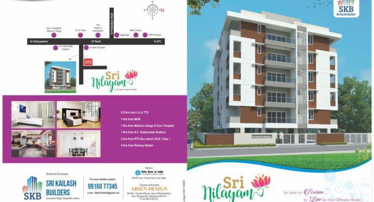Premium 3BHK flat for sale in Nellore Prime location