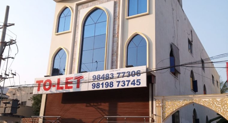 Cellar + G +2 Commercial Building For Lease / Rent at Suryaraopeta, Kakinada.