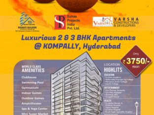 3 & 2 BHK Flats for Sale at Kompally Hyderabad