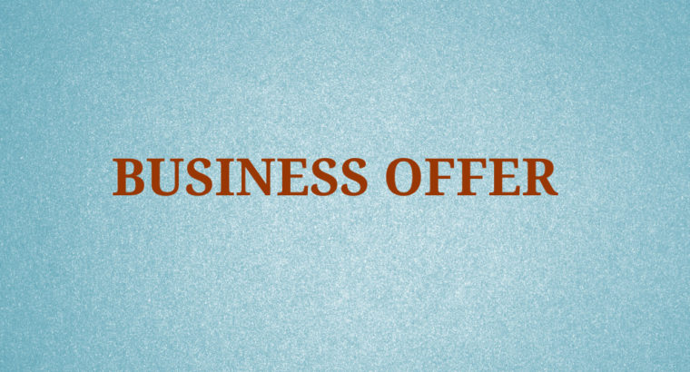Business Offer on Organic Products