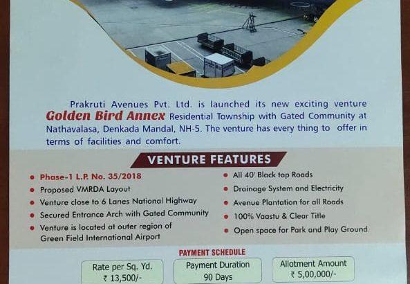 Open Plots For Sale at Bhogapuram, Visakhapatnam.