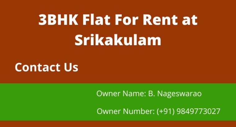3 BHK Flat For Rent / Lease at Srikakulam