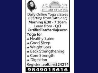 Daily Online Yoga Classes in Vijayawada