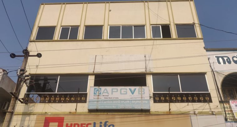 Ground Floor Commercial Building Space For Rent at New Colony, Srikakulam.