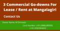 Commercial Go-Down For Lease Or Rent at Mangalagiri