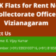 2BHK Flats for Rent at Near Collectorate Office, Vizianagaram