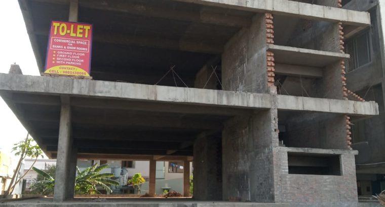 Cellar + G +2 Commercial Building For Rent, Beside State Bank Of India, Gaigalapadu Branch, Sarpavaram Road, Kakinada