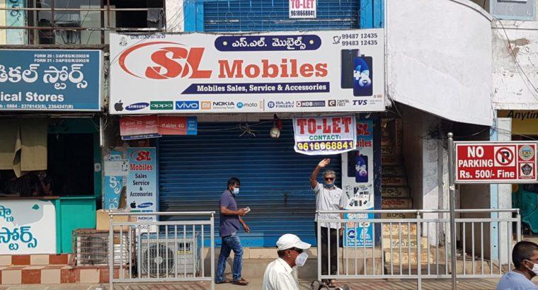 Shop for Rent at Bhanugudi Jn, Kakinada.