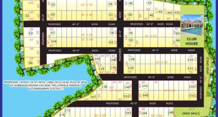 Farm Plots For Sale at Oxygen Valley, Near JNTU Engineering College, Vizianagaram.