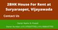 2BHK House for Rent at Suryaraopet, Vijayawada