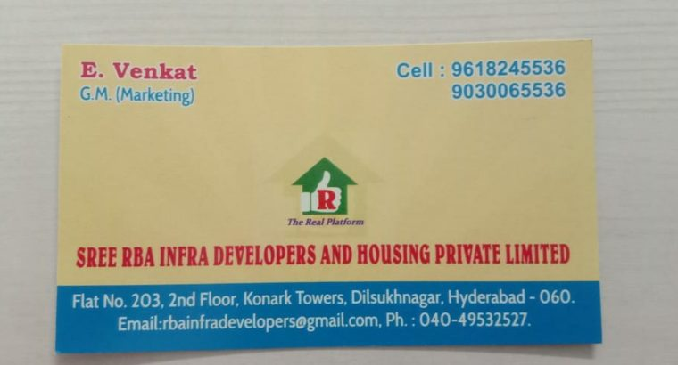 Sree Rba Infra Developers And Housing Private Limited, Hyderabad