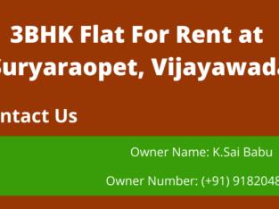 3BHK Flat For Rent at Suryaraopet, Vijayawada