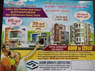 6 Acres Of Ultra Premium Guda Layout Flats & Houses For Sale at Pithapuram