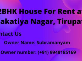 2BHK House For Rent at Kakatiya Nagar, Tirupati
