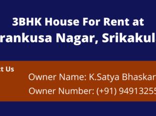 3BHK House For Rent at Parankusa Nagar, Srikakulam
