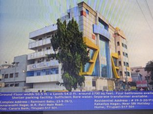 Commercial Space For Rent at Amaravathi Nagar, Tirupati.