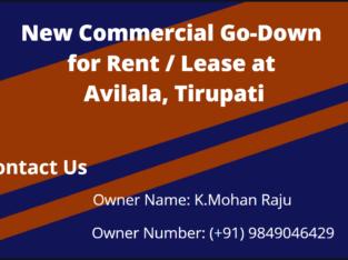 New Commercial Go-Down for Rent / Lease at Avilala, Tirupati
