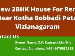 2BHK New House For Rent Near Kotha Bobbadi Peta, Vizianagaram