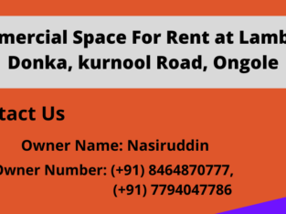 G+1 Commercial Space For Rent at Lambaadi Donka, Kurnool Road, Ongole