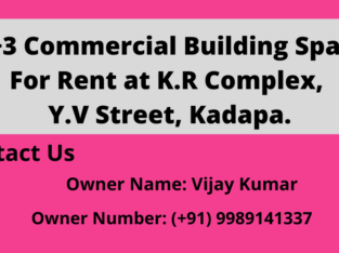 G +3 Commercial Building Space For Rent Near Y.V.Street, Kadapa