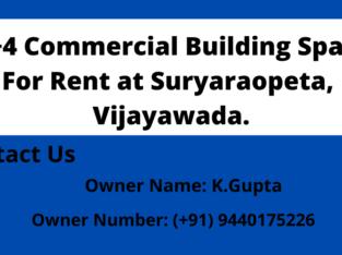 G + 4 Commercial Building Space For Rent at Suryaraopeta, Vijayawada.