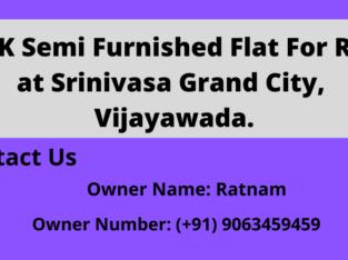 4BHK Semi Furnished Flat For Rent at Srinivasa Grand City, Gollapudi, Vijayawada.